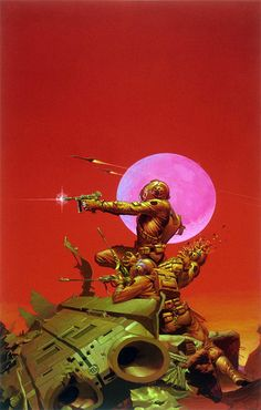 THE COSMIC COMPUTER (1975) by Michael Whelan, cover for the book by H. Beam Piper.