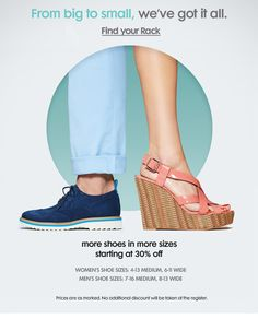 Nordstrom Rack - In Stores Now: Shoes For Every Foot