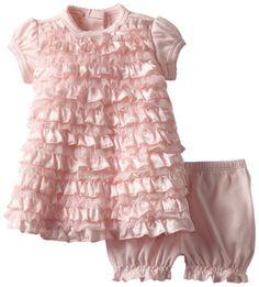 Amazon.com: Biscotti Baby-girls Newborn Wrapped In Ruffles Baby Dress & Bloomer: Clothing