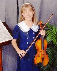 Young Lindsey Stirling aww I like to see she was talented then already..love her music xo