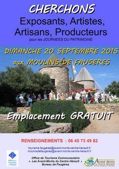 Journées du patrimoine aux moulins de Faugères
