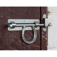 HORSE SHOE DOOR BOLT #HorseShoeCrafts