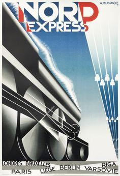 Nord Express (Mouron edition) by d'apres Cassandre, A. M. | Shop original vintage #posters online: www.internationalposter.com.