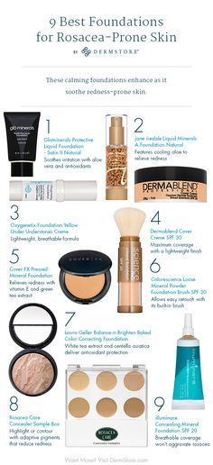 9 Foundations That Wont Irritate Rosacea-Prone Skin. If you have rosacea choosin… 9 Foundations That Wont Irritate Rosacea-Prone Skin. If you have rosacea choosing a good foundation that wont worsen your condition can be a real nightmare. Rosacea Makeup, Best Makeup For Rosacea, Acne Rosacea, Rosacea Symptoms, Acne Skin, Skin Treatments, Skin Care Products, Skin Care, Beauty Products
