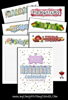 Labels for organizing a greeting card binder categories include annual birthday calendar card organizer m4hsunfo