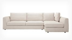 EQ3 | Cello 2-Piece Sectional Sofa with Full Arm Chaise - Fabric