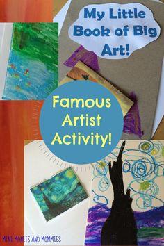Famous artist kids' book-making craft activity.