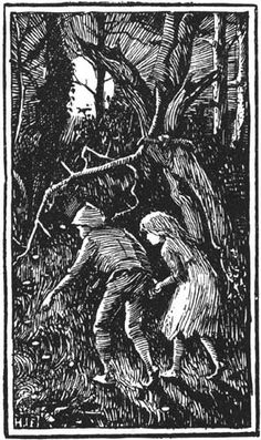 Henry Justice Ford - The Blue Fairy Book -Hansel and Gretel Wood Illustration, Fairy, Illustration, Painting, Blue Fairy, Art, Black And White Drawing, Fairy Tales, Abstract