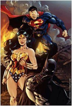 Talent Caldwell Infinite Crisis Rare Variant Cover Dc Trinity Batman Superman Ww Collectibles