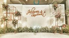 Full, floating frame for spaciousness *** Wedding Decorations Ideas Stage 33 Ideas Wedding Reception Backdrop, Wedding Stage Decorations, Wedding Centerpieces, Indian Wedding Receptions, Wedding Mandap, Rustic Wedding, Diy Wedding, Wedding Flowers, Trendy Wedding