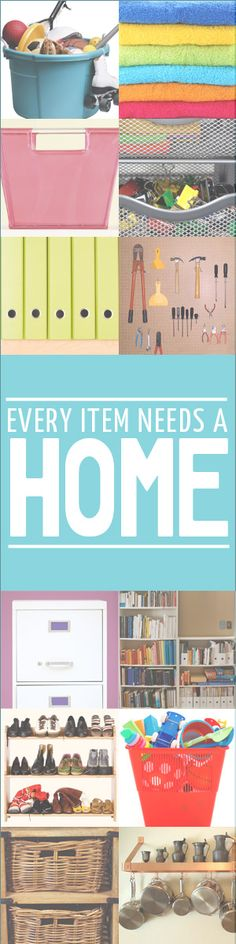 Organization tip: Don't stash – make a logical home for every item.