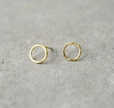 circle gold earrings minimalist postsChristmas by StudioBALADI