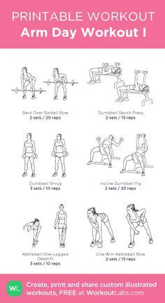 Arm Day Workout I:my custom printable workout by @WorkoutLabs #workoutlabs #customworkout