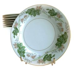 Vintage Noritake Dessert or Salad Plates by MerrilyVerilyVintage