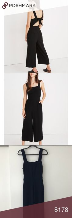 dd18c48dff32 Madewell NAVY Apron Tie-back Jumpsuit Never worn