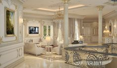 living room design for a private palace