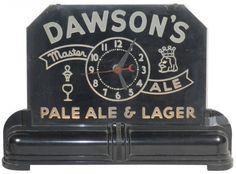 Dawson's Pale Ale & Lager light-up clock, edgebrig