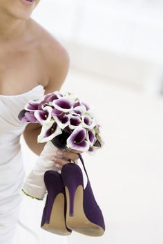 Purple calla lily bouquet and i want to wear purple shoes Plum Wedding, Wedding Bouquets, Wedding Flowers, Dream Wedding, Wedding Stuff, Wedding Colors, Wisteria Wedding, Cozy Wedding, Wedding Photos
