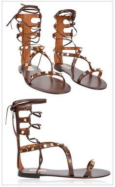 WOW! VALENTINO | Rockstud Gladiator Sandals the perfect summer footwear choice.