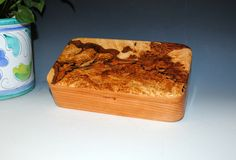 Handmade Wood Oyster Box    Spalted Ambrosia Maple by BurlWoodBox