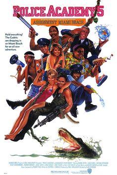 Police Academy 5: Assignment Miami Beach movie poster