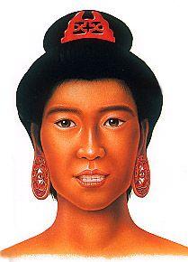 Jomon period women's hairstyle.