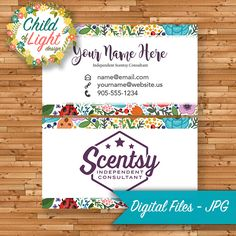 Authorized scentsy vendor independent cards custom business card authorized scentsy vendor business cards custom flowers garden personalized printable vistaprint vista print reheart Images