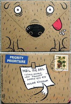 mail me art #snailmail #envelope