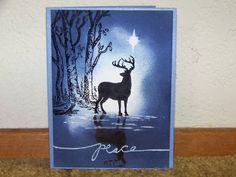 Poster: manetta  This is a card that I did last Christmas.    Keywords: sponging…