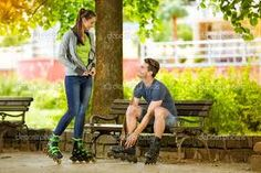 rollerblade couple shots - Google Search