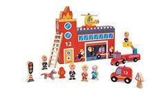 Janod 4508522 - Spielewelt Feuerwehr, 15 Teile