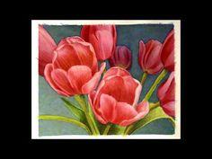 Watercolor Process: Tulips