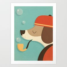 A Dog's Life Art Print by Zara Picken - $28.00
