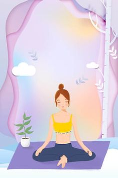 Flower Wallpaper, Wallpaper Backgrounds, Yoga Cartoon, Fitness Backgrounds, Flyer Poster, Technology Posters, Yoga Illustration, Anime Galaxy, Girly Drawings