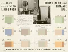 Artist and filmmaker Morgan Fisher took inspiration from a booklet his father's pre-fabricated housing company produced in the 1930s and produced a series of paintings called Interior Color Beauty. The collection of monochromes are minimalist with color palettes based on the suggested color schemes for the interiors and exteriors of the homes.