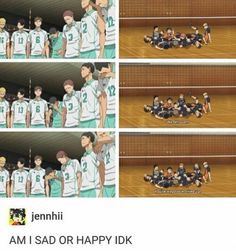 Ah the joys of Haikyuu...having your heart broken two ways at once: one for the losing team and one for the uncontrollable happiness of the winning one