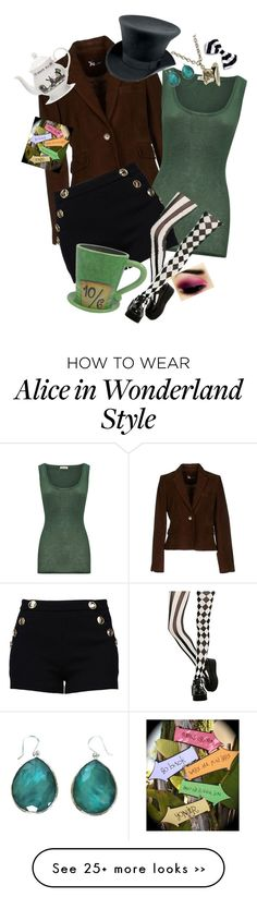 """The Mad Hatter"" by ultratopaz on Polyvore featuring moda, American Vintage, Boutique Moschino, Disney, Disney Couture, Mrs Moore's Vintage Store y Ippolita"