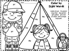 Freebie camp learn a lot for first grade literacy and for Camping coloring pages for preschoolers
