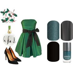 Guess the Christmas Song - Jamberry Nails Game by kspantonjamon on Polyvore featuring Kate Spade