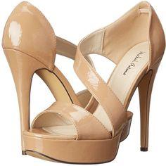 Michael Antonio Tyanne (Nude) High Heels featuring polyvore, women's fashion, shoes, pumps, beige, slip-on shoes, high heel pumps, beige pumps, stiletto pumps and platform stilettos