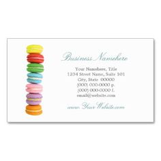 Macarons Business Cards Business Card Template