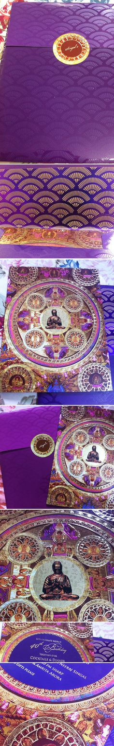 40th Birthday Invite Theme: Buddha