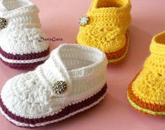 baby booties crochet sandals – Etsy ES
