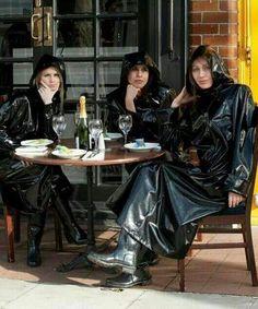 Raincoats For Women Shops Hooded Raincoat, Black Mac, Rain Fashion, Rubber Raincoats, Plastic Raincoat, Rain Gear, Weather Wear, Vinyls, Boots