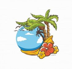 38 Ideas for coconut tree tattoo oldschool Tree Silhouette Tattoo, Evergreen Tree Tattoo, Sea Life Art, Doodle Tattoo, Real Christmas Tree, Paper Tree, Banner Design, Travel Posters, Old School