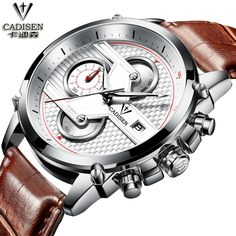 44.80$  Buy now - http://alidyq.worldwells.pw/go.php?t=32758766186 - Fashion Casual Wristwatch CADISEN Design Military Quartz Watches Men Luxury Brand Sport Clock Reloj Watch Relogio Masculino 44.80$