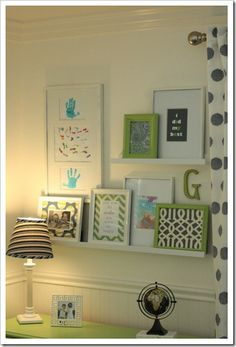 Ideas for artwork in the girls room.  Can frame anything, kid art, fabric, scrap paper, poems!  The possibilities are endless!