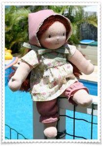 patron tunique «  Fleur » pour poupée tissus 32cm #HTSY #free #pattern