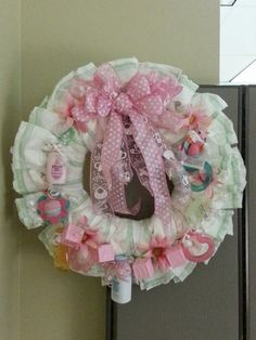 My First Baby Diaper Wreath