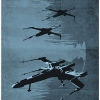 Star Wars Spaceship Poster Set - X-Wing Fighters